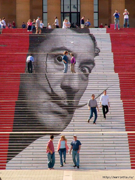 Граффити и Street Art. Самые красивые лестницы и ограды (8) (525x700, 372Kb)