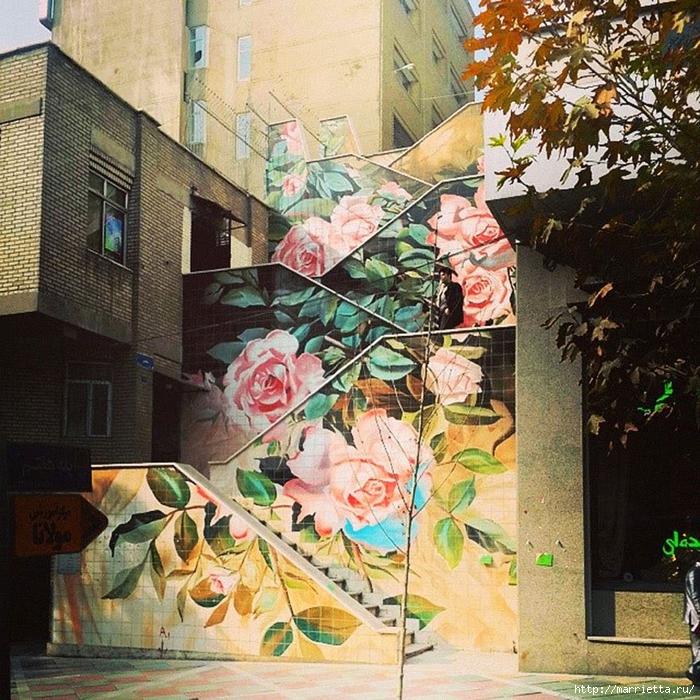 Граффити и Street Art. Самые красивые лестницы и ограды (18) (700x700, 476Kb)