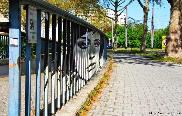 Граффити и Street Art. Самые красивые лестницы и ограды (21) (700x447, 324Kb)