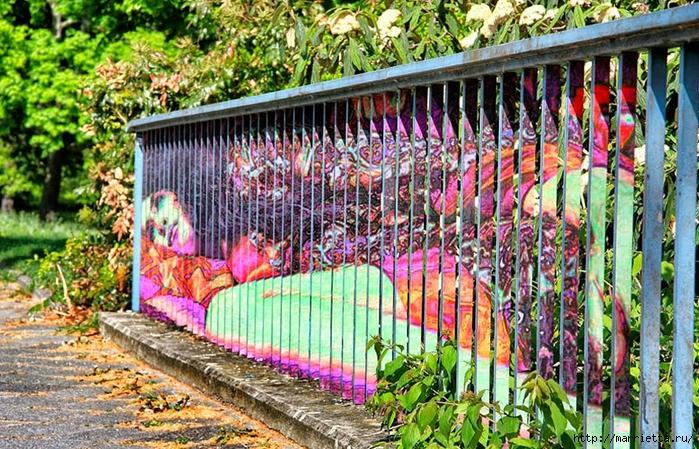 Граффити и Street Art. Самые красивые лестницы и ограды (22) (700x449, 416Kb)