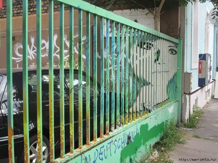 Граффити и Street Art. Самые красивые лестницы и ограды (27) (700x524, 334Kb)