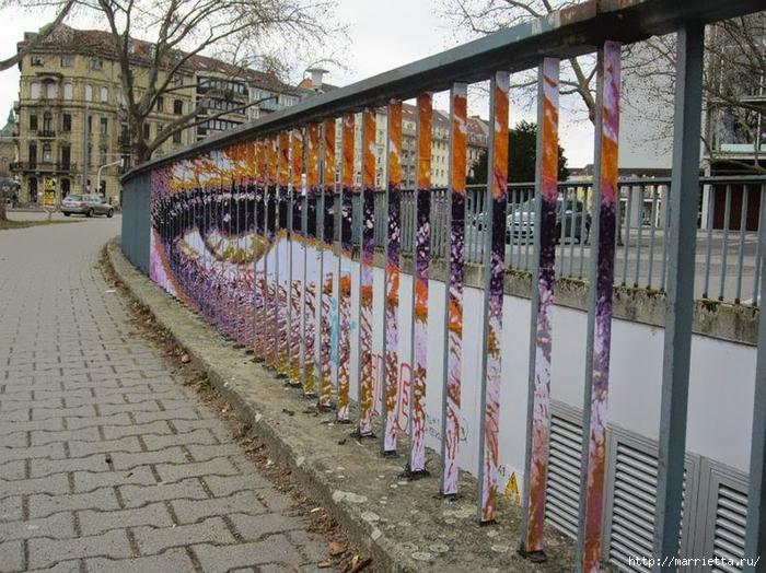 Граффити и Street Art. Самые красивые лестницы и ограды (28) (700x524, 345Kb)