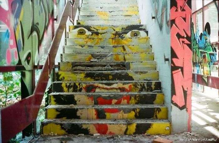 Граффити и Street Art. Самые красивые лестницы и ограды (29) (700x455, 281Kb)