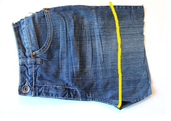 Фартук из старых джинсов