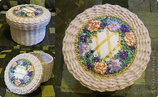 Газетные плетенки с вышивкой лентами. Мастер-класс (43) (520x321, 199Kb)