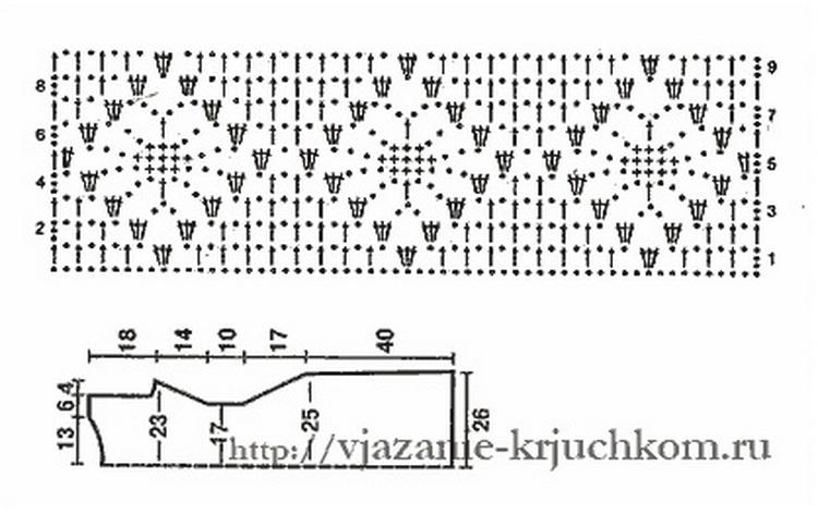 Схема паучки крючком пошагово