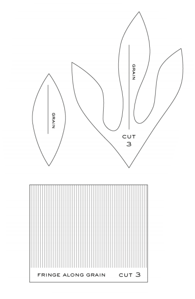 Piones de papel crepé.  Plantillas y maestro de clase (5) (397x609, 26Kb)