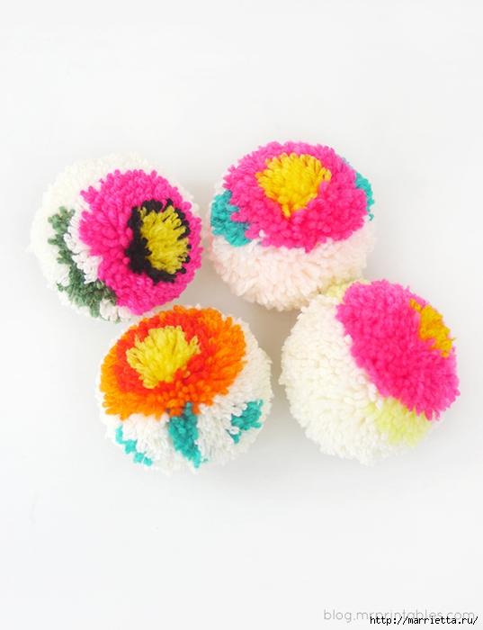 Веселые цветочные помпоны. Идеи и мастер-классы (25) (537x700, 188Kb)