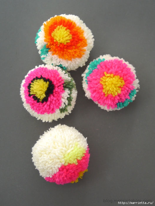 Веселые цветочные помпоны. Идеи и мастер-классы (45) (527x700, 253Kb)