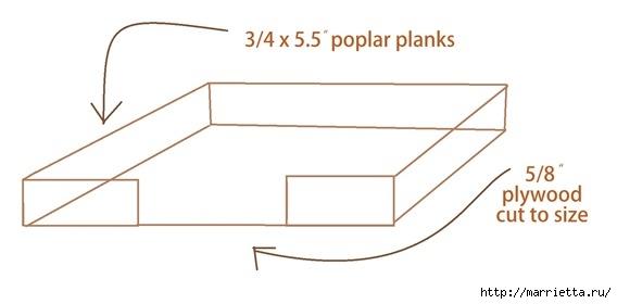 Кроватка в стиле модерн. Для собачки (2) (568x280, 49Kb)