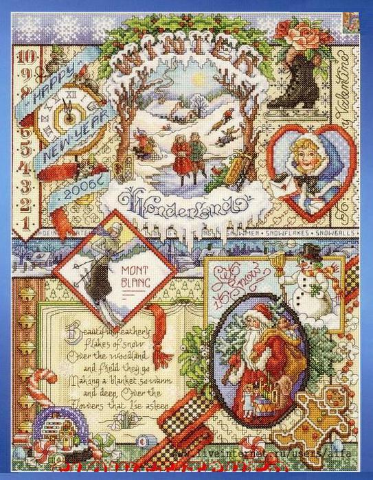 Вышивка крестом, схемы Winter