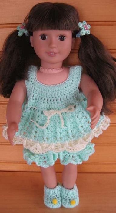 Вязанные наряды для кукол