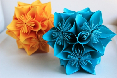 Star flower ball  easy paper flower ball tutorial  EzyCraft