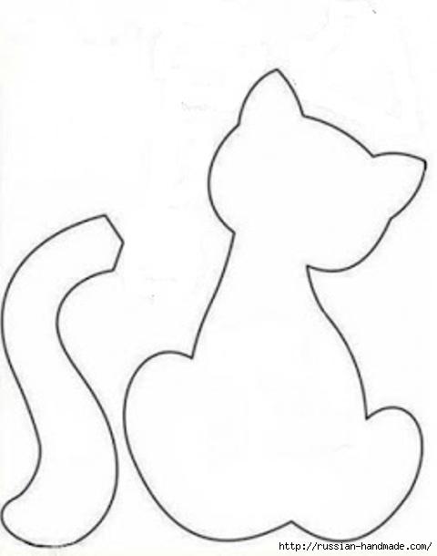 Простые выкройки кошечек. Шьем сами (5) (480x610, 59Kb)