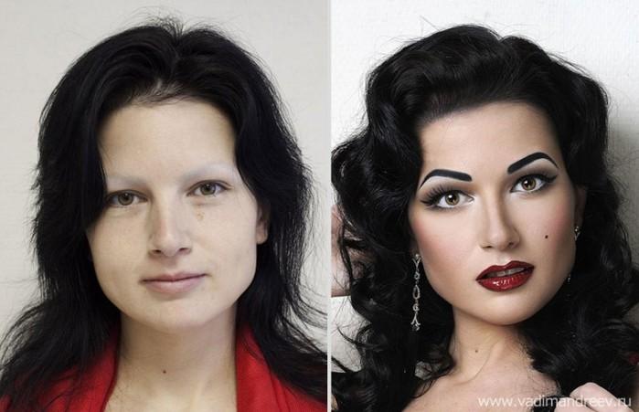 Макияж профессиональный фото до и после