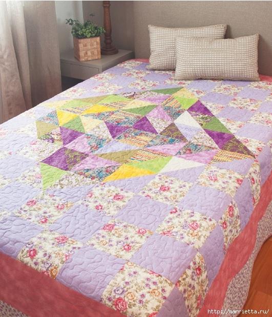 Текстильное покрывало в технике ПЭЧВОРК (1) (531x619, 261Kb)