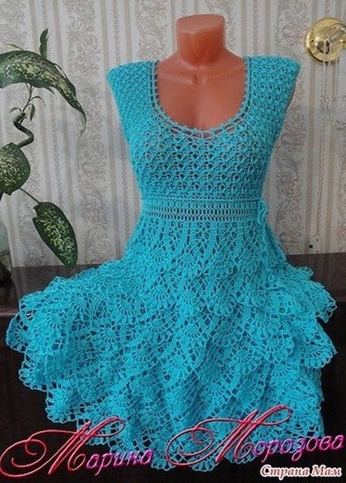 Вязание летних платьев для девушек