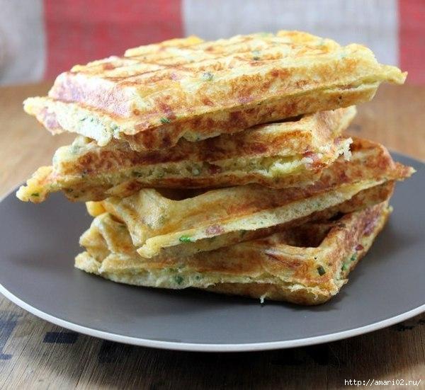 Сырно-луковые вафли