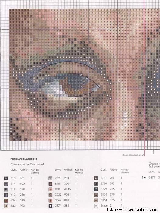 Вышивка по мотивам Леонардо да Винчи. Футляр для очков (2) (526x699, 228Kb)