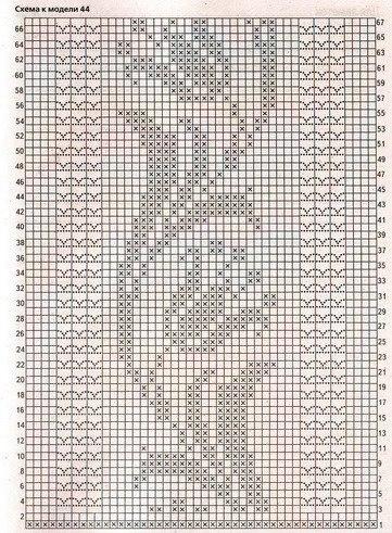 Палантин схема филейное вязание крючком схемы
