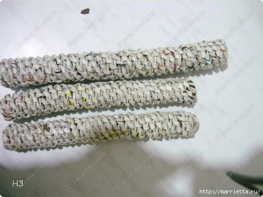 Плетение из газет. Велосипед. Мастер-класс (14) (520x390, 113Kb)