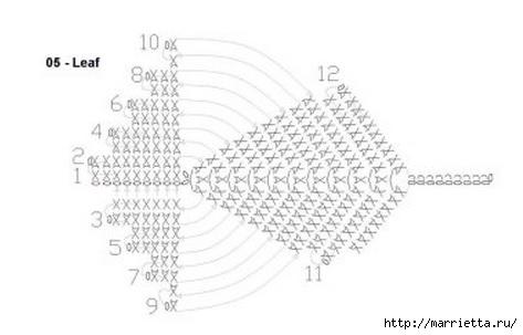 Вяжем ЦВЕТЫ КРЮЧКОМ. Схемы (6) (473x303, 49Kb)