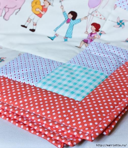Окантовка лоскутного панно и одеяла. Фото мастер-класс (29) (505x582, 231Kb)