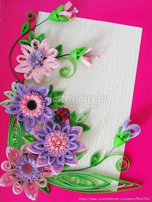 Мастер класс по квиллингу цветы пошагово - Дом и гараж