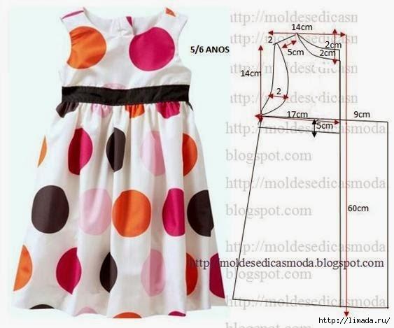 Модели платьев с выкройками для девочек 5 лет