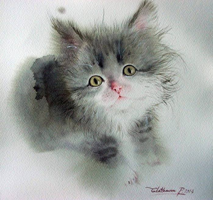 Watercolor by Chatchawarn Ruksa (700x655, 81Kb)