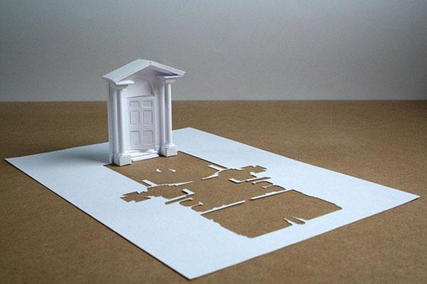 скульптуры из бумаги Питера Каллесена 1 (600x400, 118Kb)