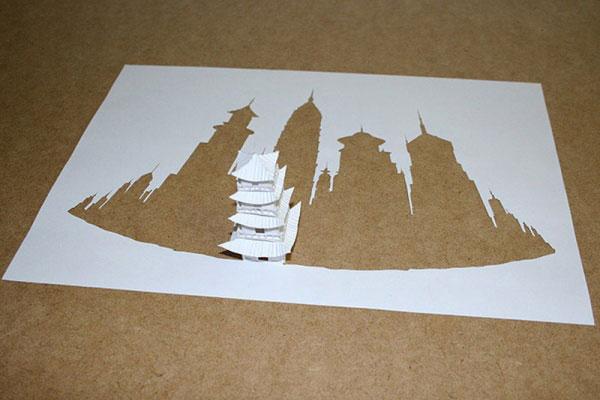 скульптуры из бумаги Питера Каллесена 16 (600x400, 133Kb)