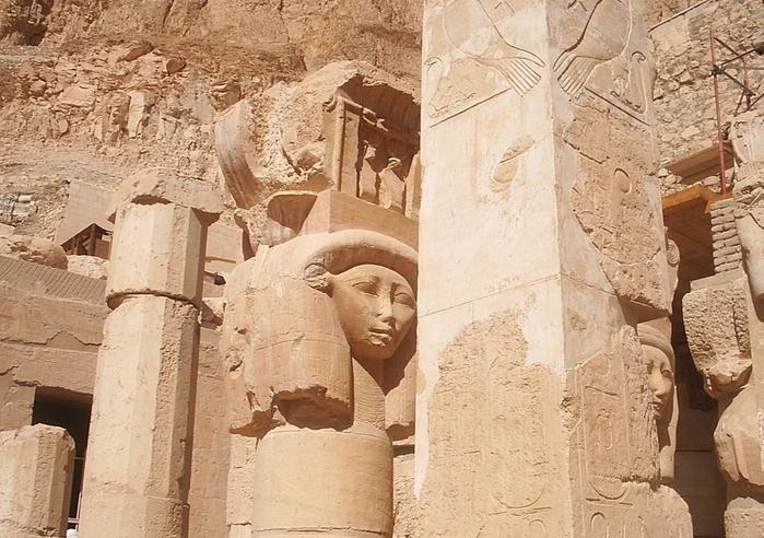 Храм царицы Хатшесуп египет фото 7 (700x492, 302Kb)