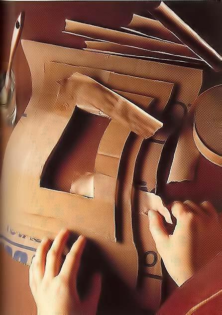 Как сделать рельефную рамку из картона. Мастер клас