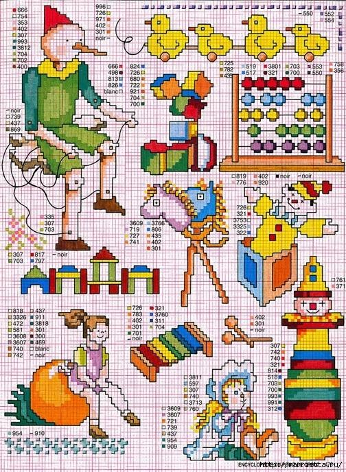 Схемы детской вышивки для