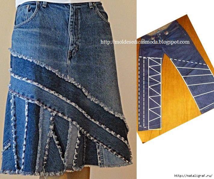 旧牛仔裤还能干什么?50 : 牛仔裤的改头换面  - maomao - 我随心动
