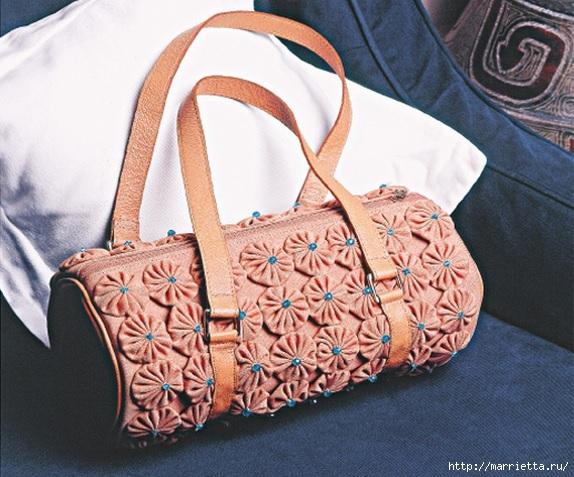 Цветочки ЙО-ЙО для сумки, скатерти и салфеток (7) (574x477, 213Kb)