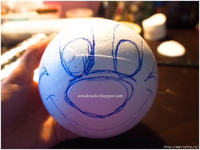 Minnie Mouse hecha de papel maché y granos de café.  Clase magistral (11) (700x526, 218KB)