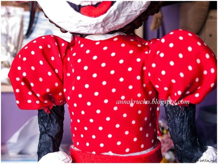 Minnie Mouse hecha de papel maché y granos de café.  Clase magistral (29) (700x526, 274KB)
