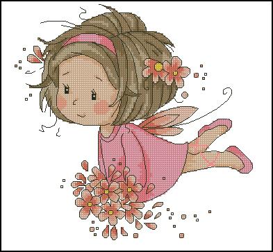 Pink fairy (393x363, 114Kb)