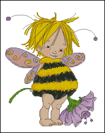 Little bee fairy (360x453, 145Kb)