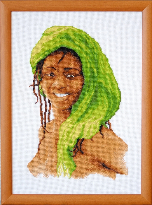 Схема вышивки негритянка