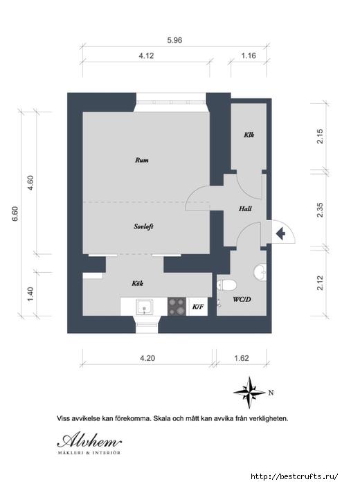 Идея планировки уютной квартиры (14) (494x700, 67Kb)