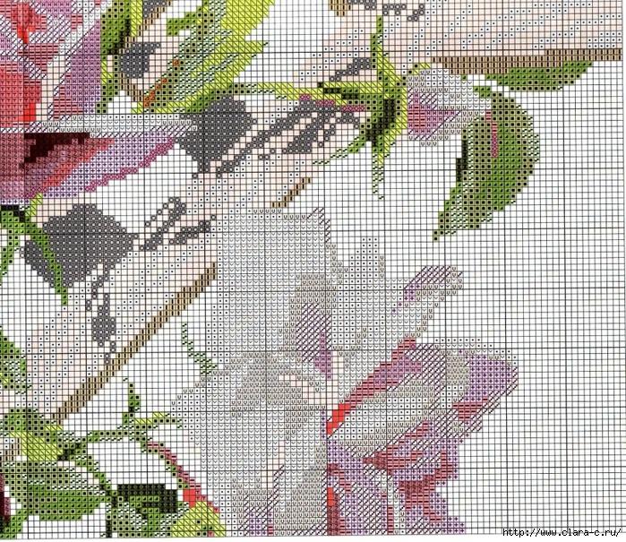 Stitchart-roza-na-reshetke4 (700x605, 557Kb)