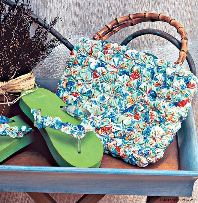Цветочки Йо-Йо для декорирования сланцев и пляжной сумки (660x678, 498Kb)