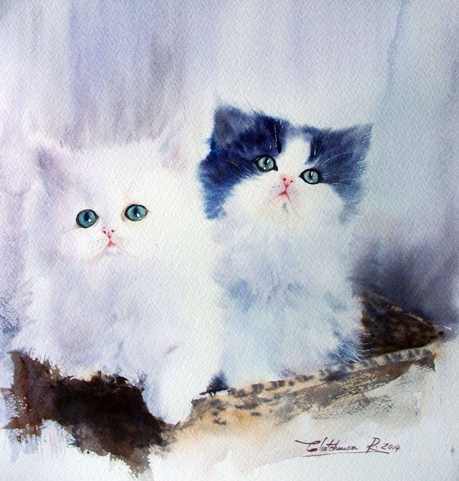Watercolor by Chatchawarn Ruksa1 (668x700, 176Kb)