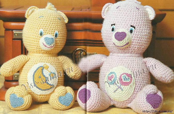 как связать медвежонка, схема вязания медвежонка, вязаный медвежонок,