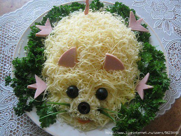Детские салаты из сыра