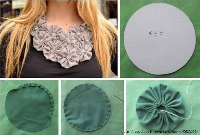 Цветок из ткани для платья своими руками