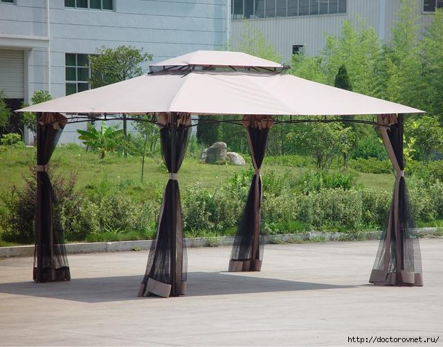 шатер с двойной крышей и москитной сеткой